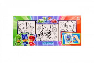 Sada 3 ks obrázků na zeď k malování PJ Masks Greg / Amaya / Connor / vecizfilmu