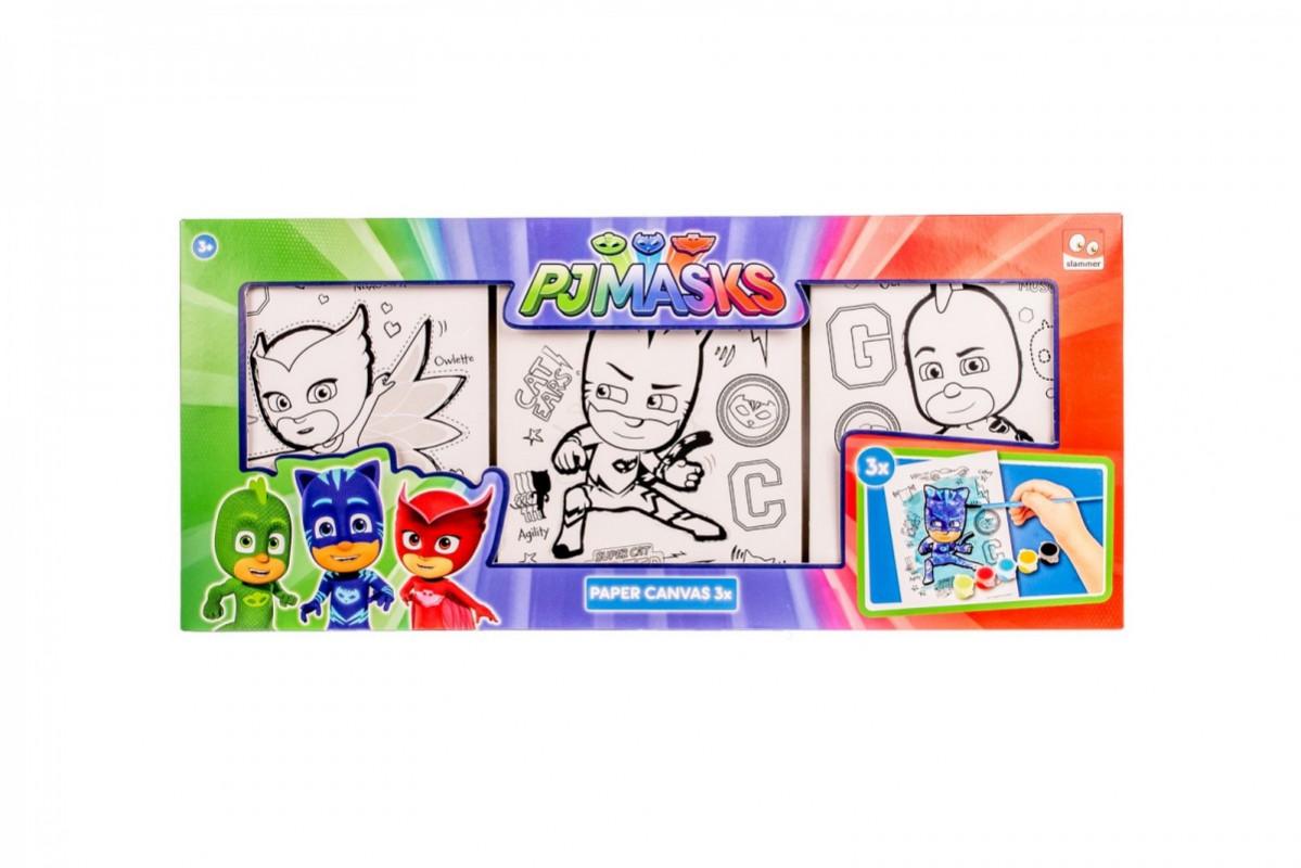Sada 3 ks obrázků na zeď k malování PJ Masks Greg / Amaya / Connor