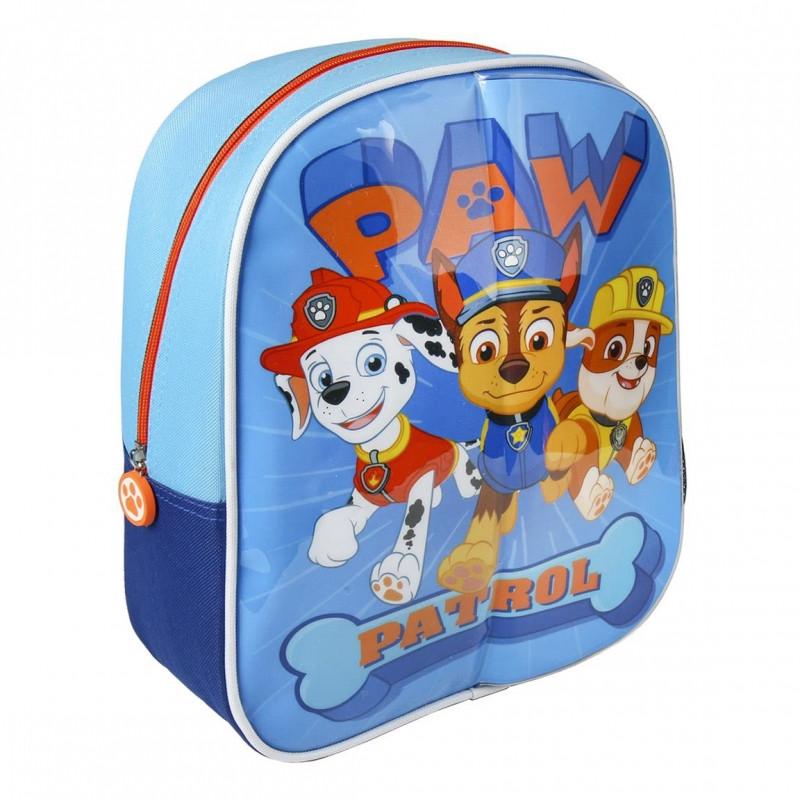 Dětský batoh s přední plochou na kreslení Paw Patrol / Tlapková patrola / 23 x 28 x 9 cm