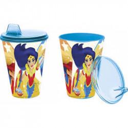 Kelímek s pítkem pro děti / DC Super Hero Girls / 430 Ml / veci z filmu