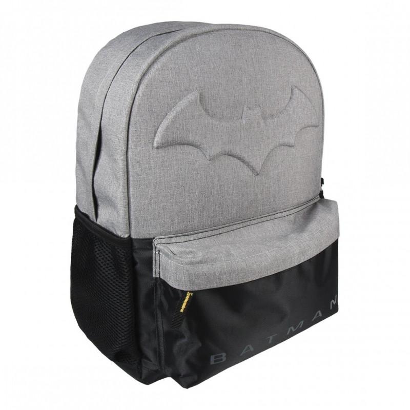 Školní batoh černošedý Batman / 30 x 42 x 12 cm