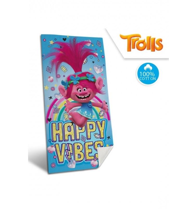 Plážová Osuška / Ručník / Trollové Happy Vibes /  70 x 140 cm