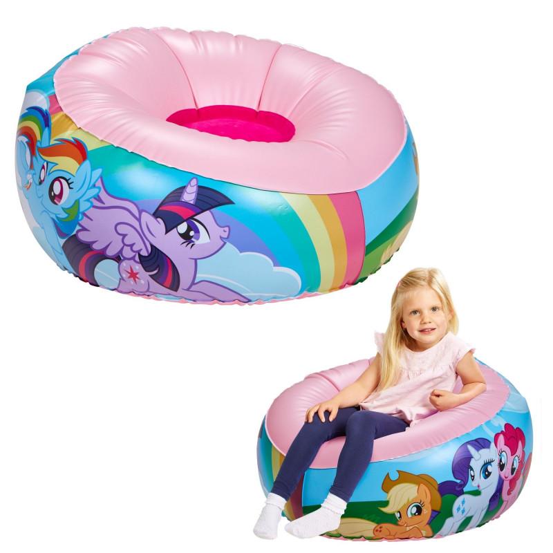 Dětské nafukovací křesílko My Little Pony / 35 x 65 x 65 cm