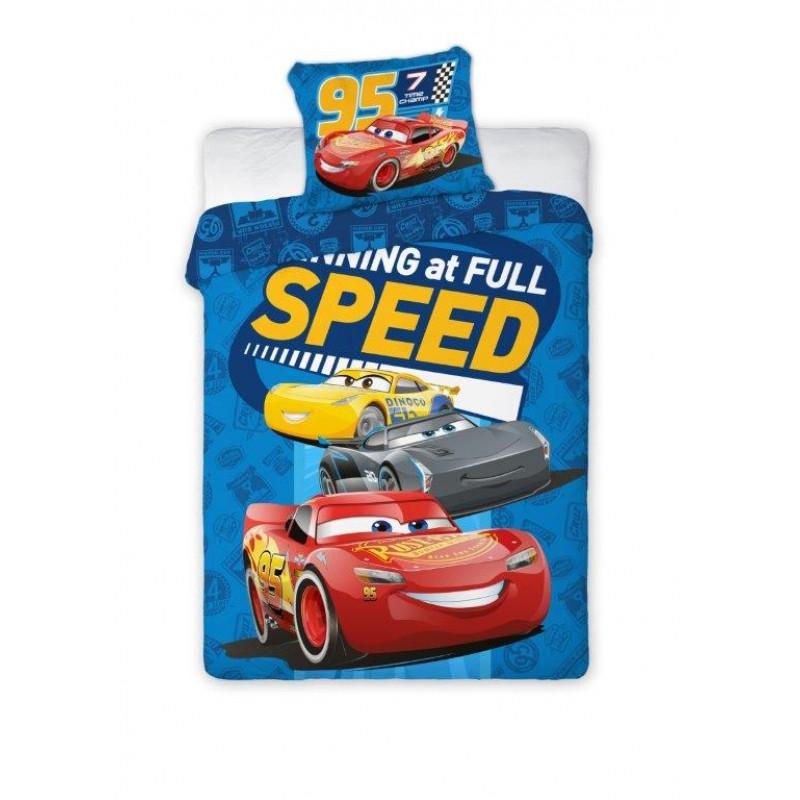 Bavlněné povlečení do dětské postýlky s Bleskem McQueenem Cars / Auta 100 x 135 cm a 40 x 60 cm