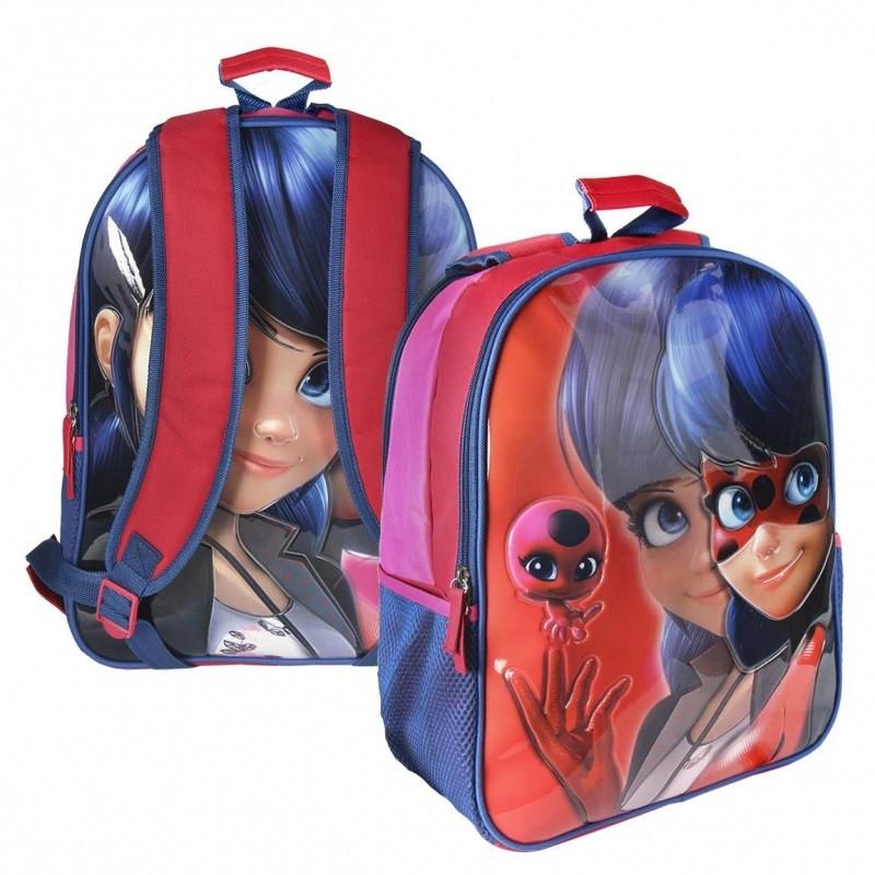 Oboustranný dívčí batoh Zázračná Beruška / Miraculous Ladybug 31 x 41 x 13 cm