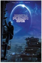 Plakát pro fanoušky Ready Player One / Hra začíná blue 61 x 91,5 cm / vecizfilmu