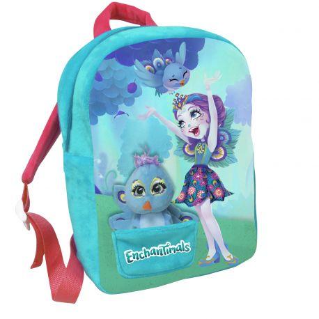 Dívčí batoh 30 cm Enchantimals s malým maskotem / ptáčkem  / vecizfilmu