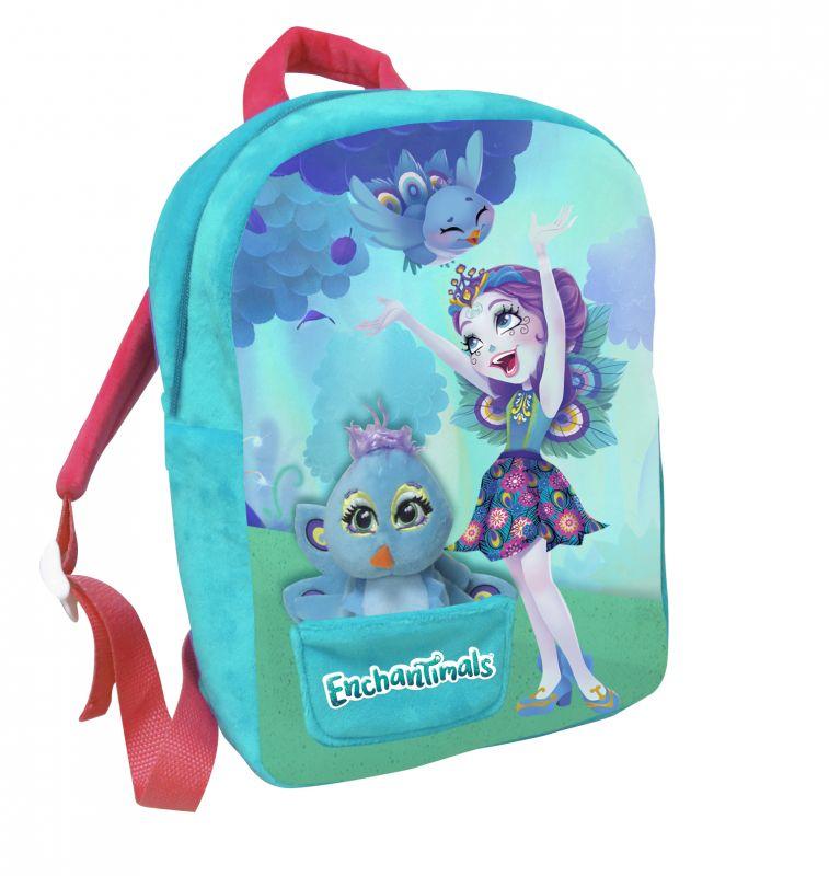 Dívčí batoh 30 cm Enchantimals s malým maskotem / ptáčkem