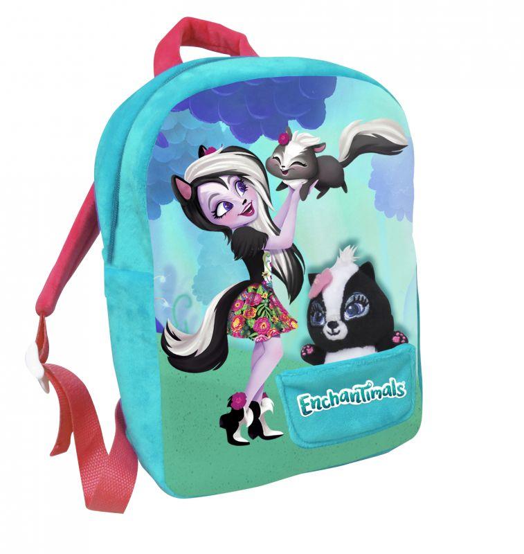 Dívčí batoh 30 cm Enchantimals s malým maskotem / skunkem
