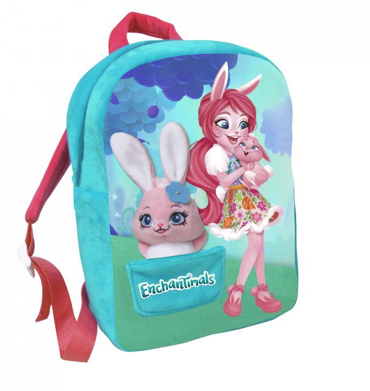 Dívčí batoh 30 cm Enchantimals s malým maskotem / zajíčkem