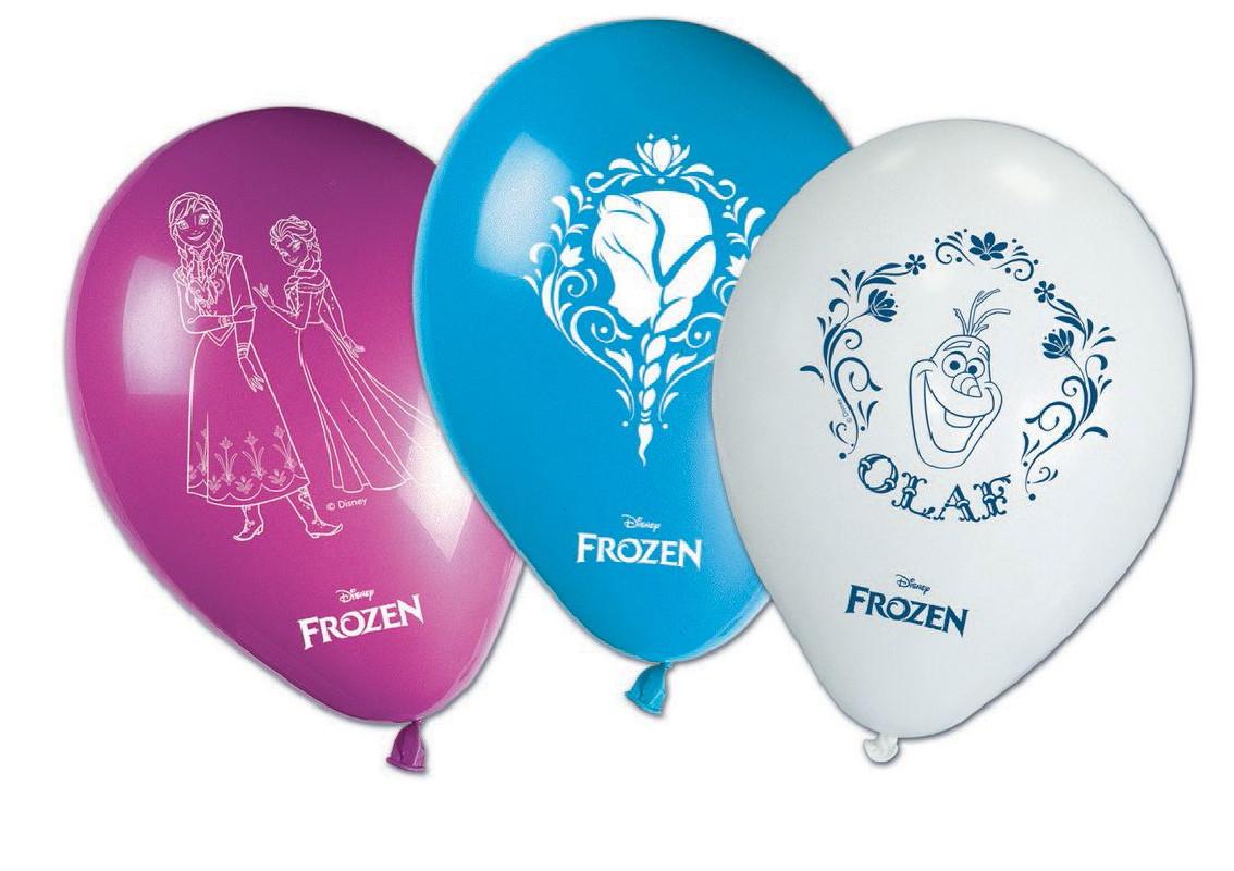 Party balónky nafukovací FROZEN / 8 ks v balení / veci z filmu