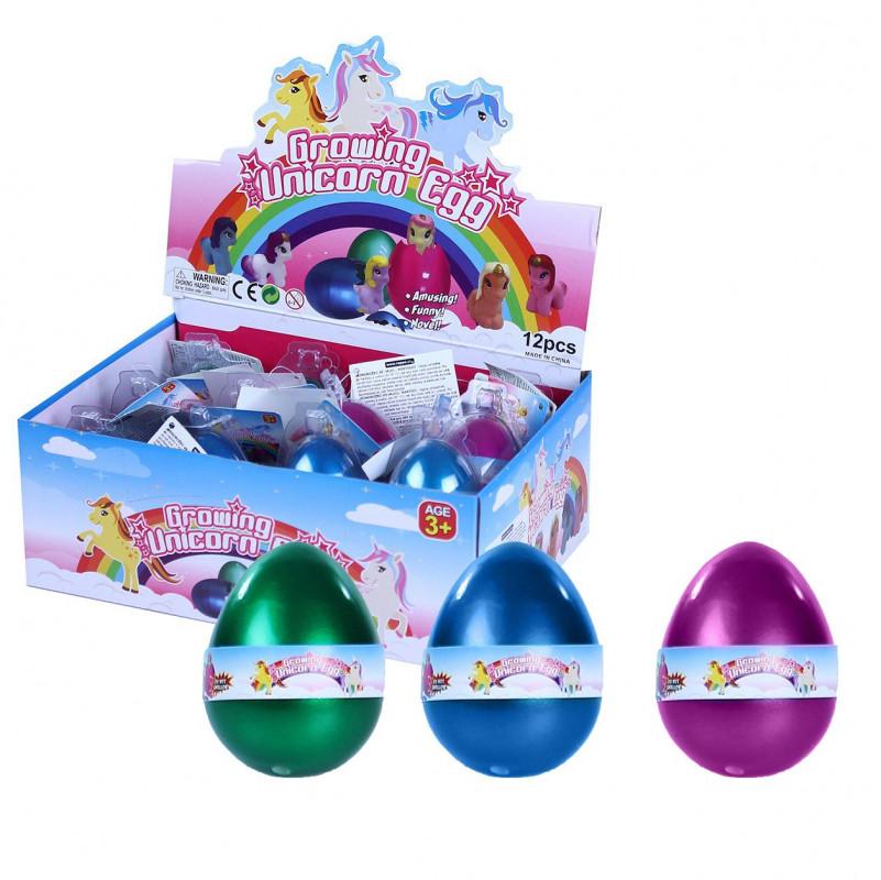 Jednorožec / Unicorn  rostoucí ve vejci / 6 cm