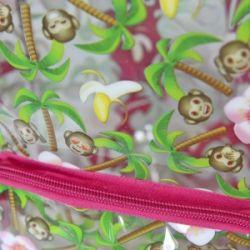 Dívčí batoh s opičkami Emoji / Smajlíci 21 x 30 x 9 cm / vecizfilmu