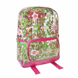 Dívčí batoh s opičkami Emoji / Smajlíci 21 x 30 x 9 cm