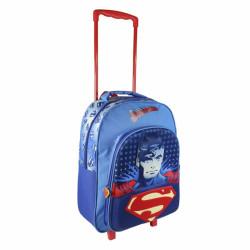 Chlapecký 3D batoh na kolečkách s rukojetí Superman 31 x 41 x 13 cm