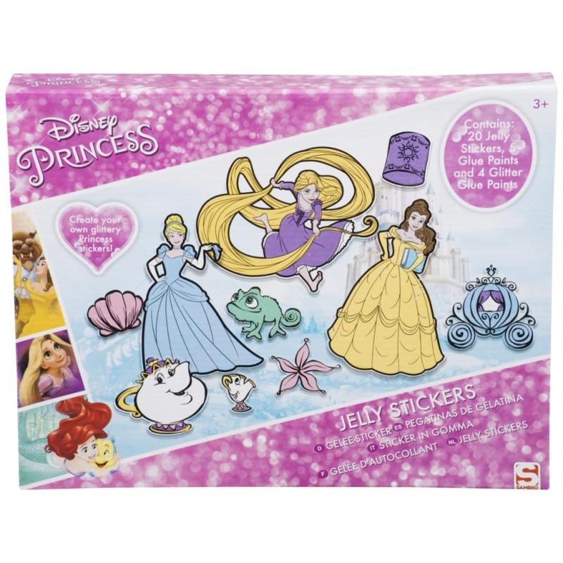 Gelové barvy a nálepky Princess / Princezny /  4 x 25 x 32
