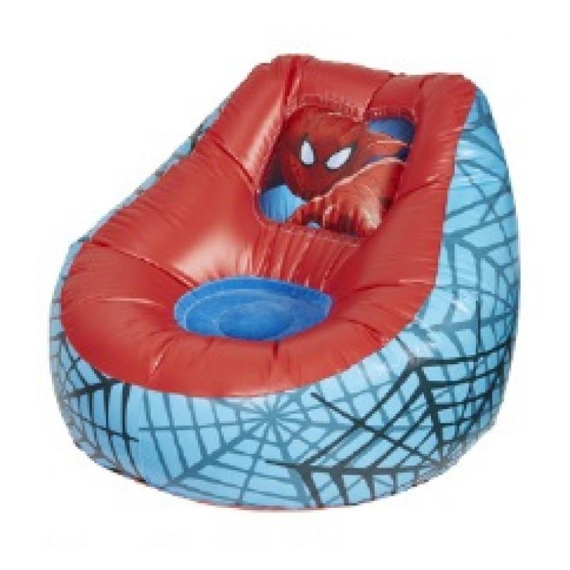 Nafukovací dětské křeslo Spiderman / 60 x 78 x 78 cm