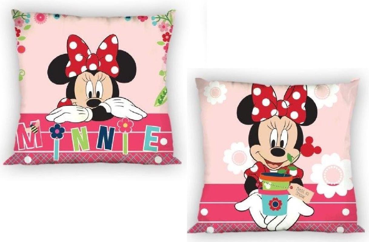 Dívčí povlak na polštář s Myškou Minnie / Minnie Mouse 40 x 40 cm