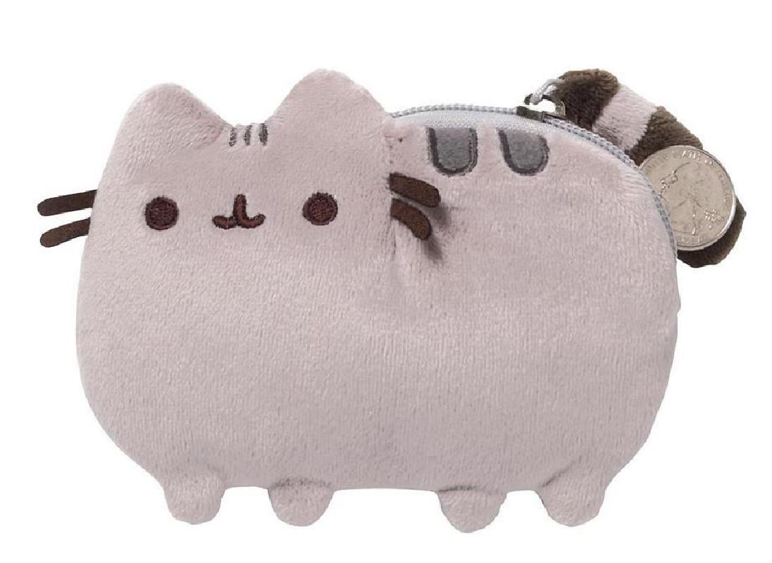 Plyšová peněženka na zip s kočičkou Pusheen 12 x 9 cm