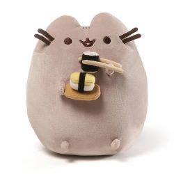 Plyšová kočička Pusheen s 3D sushi 25 cm