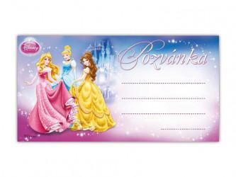 Pozvánka / Disney Princess / Princezny / 19 x 10 cm / veci z filmu