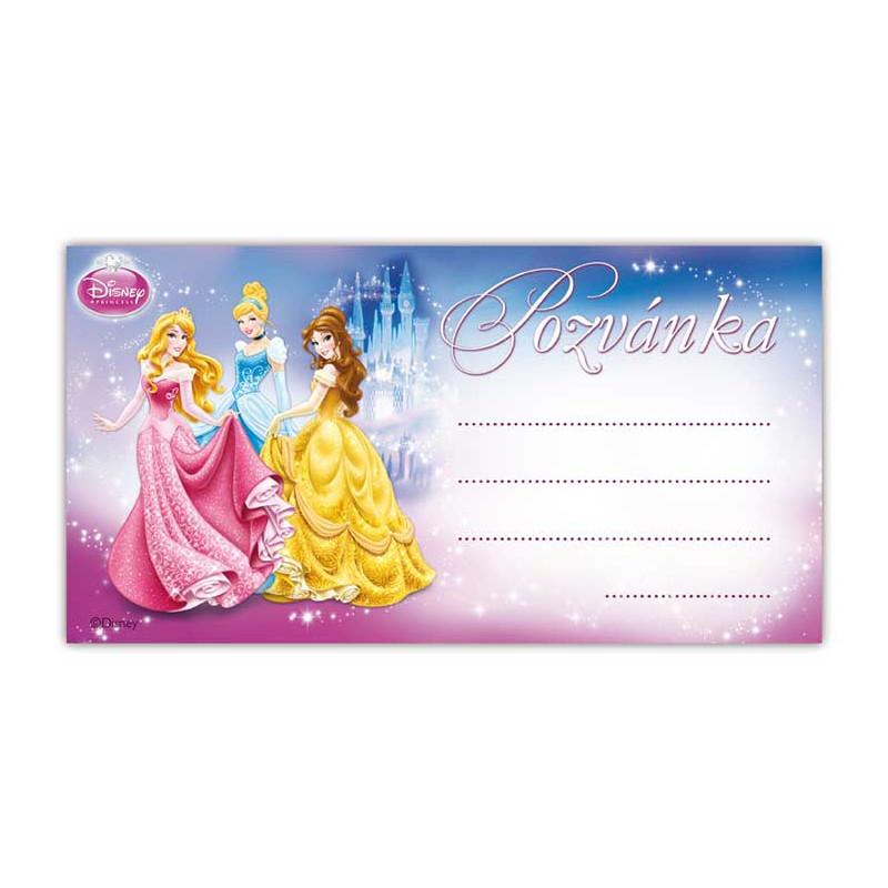 Pozvánka / Disney Princess / Princezny / 19 x 10 cm
