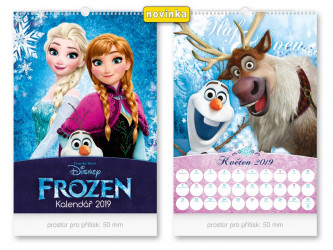 Kalendář 2019 nástěnný / Frozen / 32 x 45 cm / veci z filmu