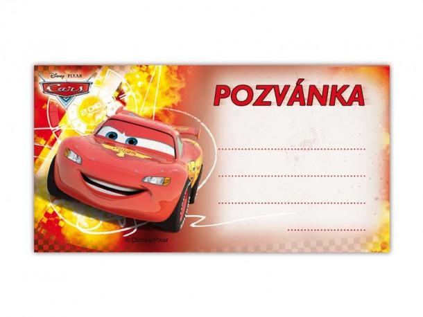 Pozvánka červená / Cars / 19 x 10 cm / veci z filmu