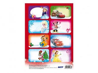 Samolepky na vánoční dárky / Disney / 16ks / veci z filmu