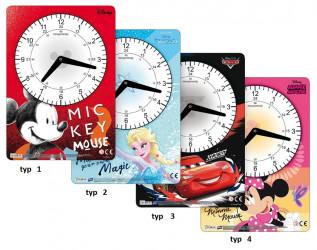 Dětské papírové hodiny / Mickey Mouse / Minnie Mouse / Frozen / Cars / veci z filmu