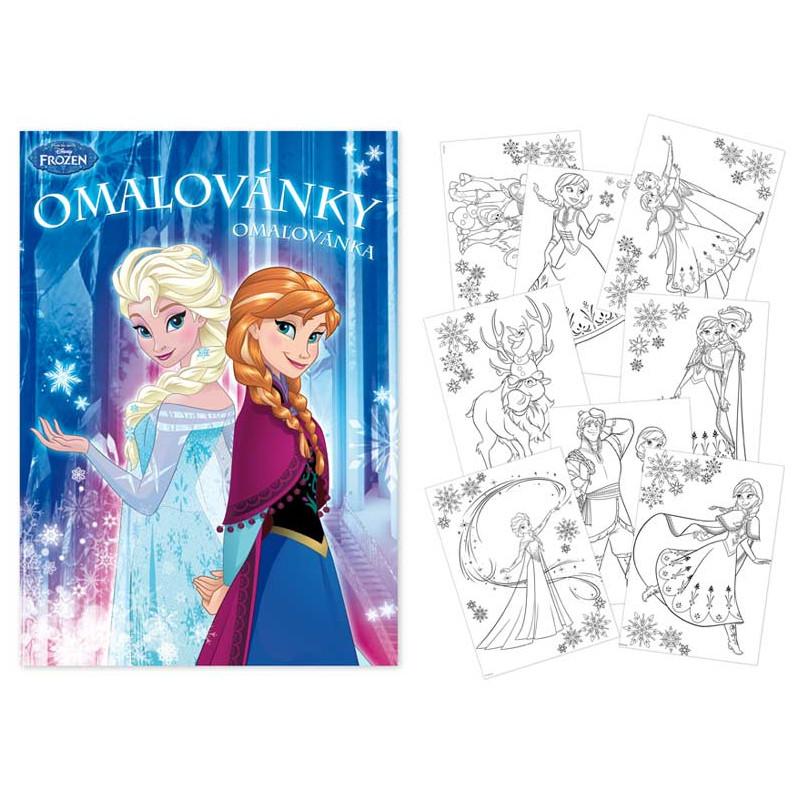 Omalovánky Frozen / A4 / veci z filmu