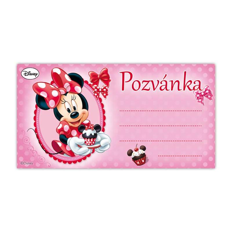 Pozvánka Minnie / 19 X 10 CM / 10KS / veci z filmu