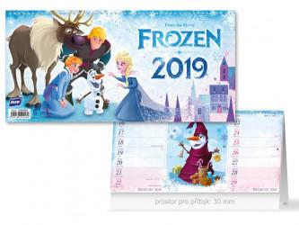 Kalendář 2019 stolní / Frozen / čtrnáctidenní / 30 x 14,5 cm / veci z filmu