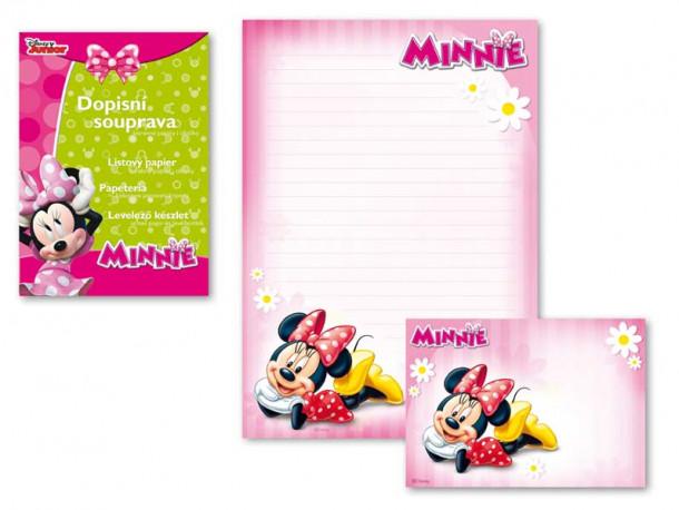 Dopisní papír barevný / Minnie Mouse / A4 / veci z filmu