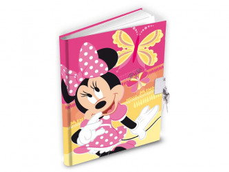 Deník / Památník se zámkem Minnie Mouse / 14 x 19 cm / veci z filmu