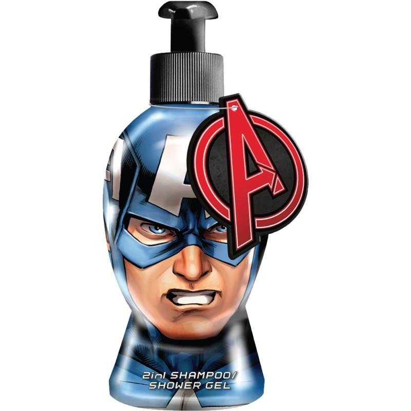 Sprchový gel a šampon Kapitán Amerika 2D / 300 ml / veci z filmu