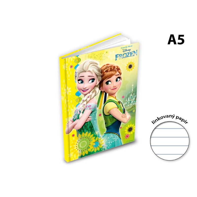 Blok / notes Frozen / A5 linka / žlutý