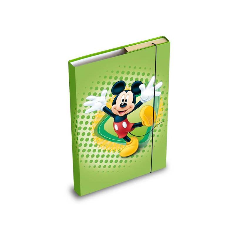 Desky na sešity / box A5 / Mickey Mouse / Zelené