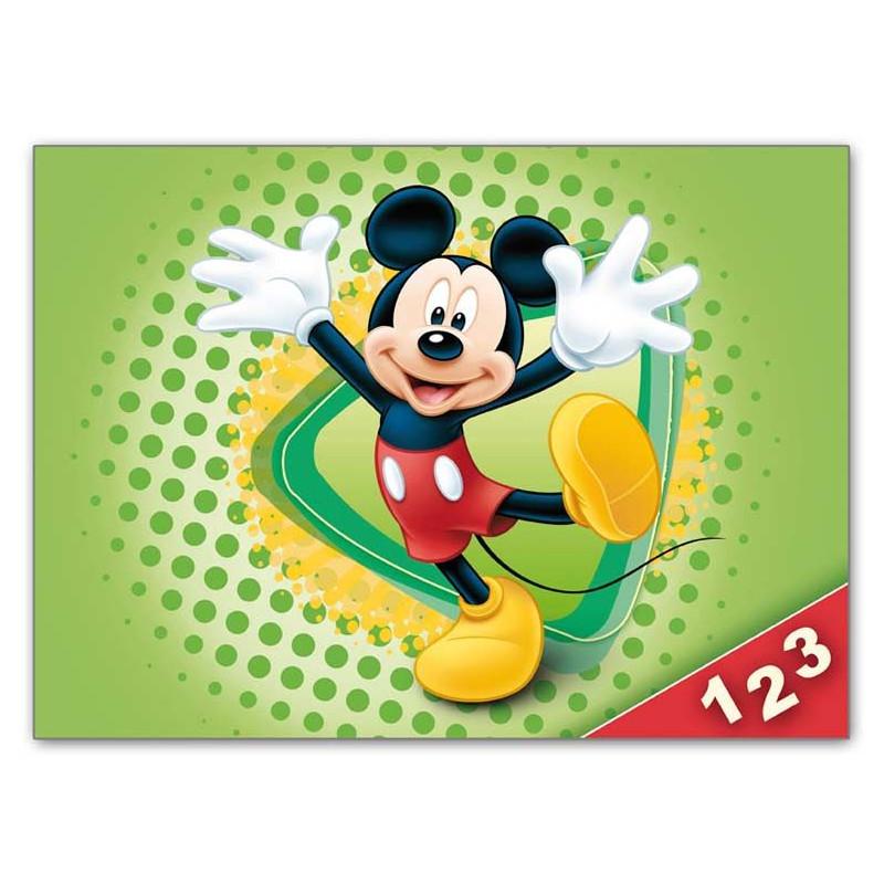 Desky na číslice Mickey Mouse / Zelené