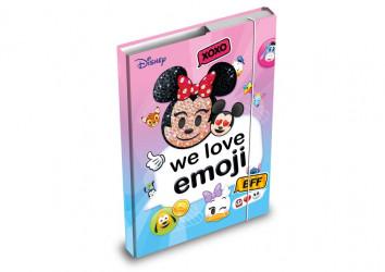 Desky na sešity / box A4 / Minnie Mouse Emoji / veci z filmu