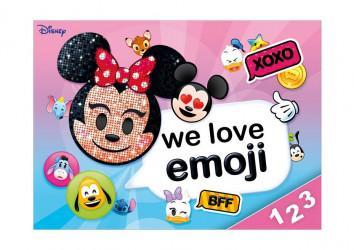 Desky na číslice / Minnie Mouse Emoji / 18 x 25 cm / veci z filmu