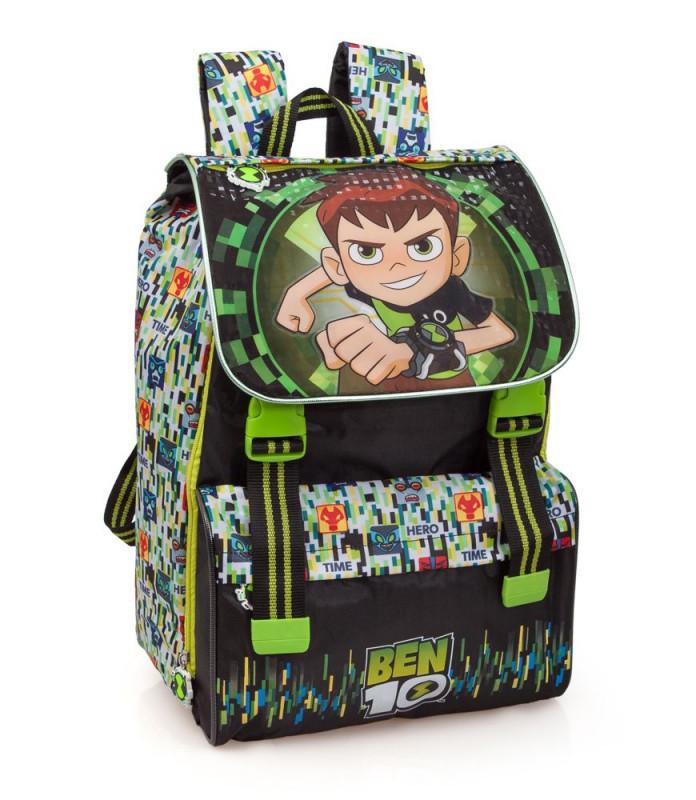 Chlapecký školní zvětšovací batoh / aktovka Ben 10 / rozměr 40 x 28 x 13 cm / vecizfilmu