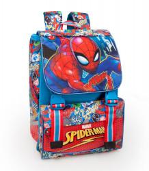 Chlapecký školní zvětšovací batoh / aktovka Spiderman / modrý 40 x 28 x 13 cm / vecizfilmu