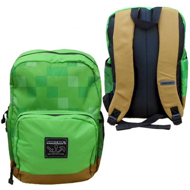 Chlapecký batoh Minecraft zeleno hnědý / kostičky 40 x 30 x 15 cm