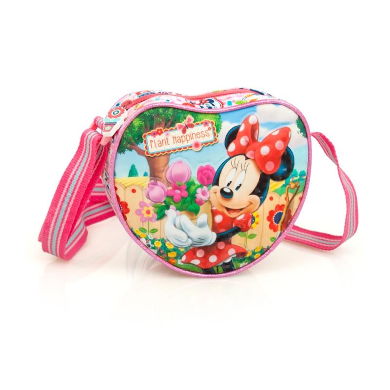Dívčí kabelka srdíčko Minnie Mouse / 18 x 16 x 5 cm