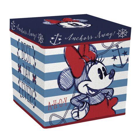 Úložný box s víkem Minnie Mouse / Myška Minnie 30 x 30 x 30 cm