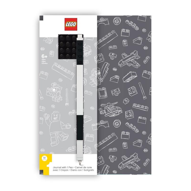Sada Blok / Notes s Propiskou Lego / A5 šedý