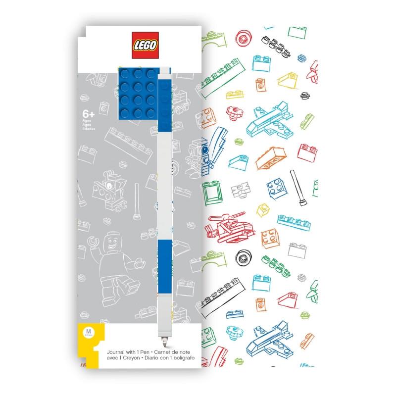 Sada Blok / Notes s Propiskou Lego / A5 modrý