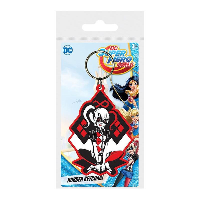 Gumový přívěšek na klíče DC Super Hero Girls / Harley Quinn