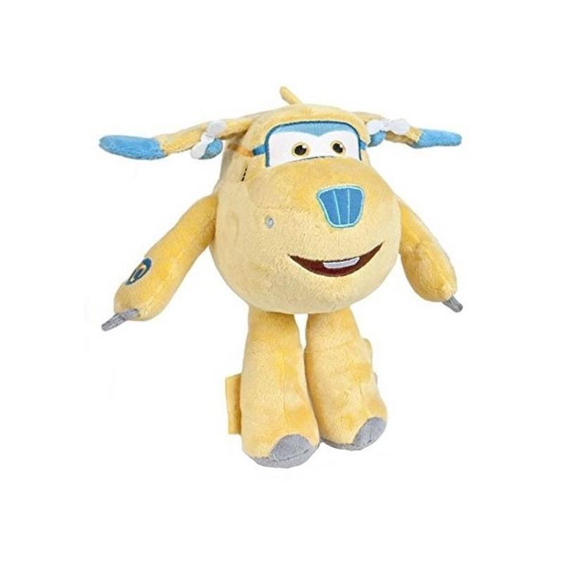 Plyšová hračka / postavička Super Wings / Letadla žlutá 17 cm